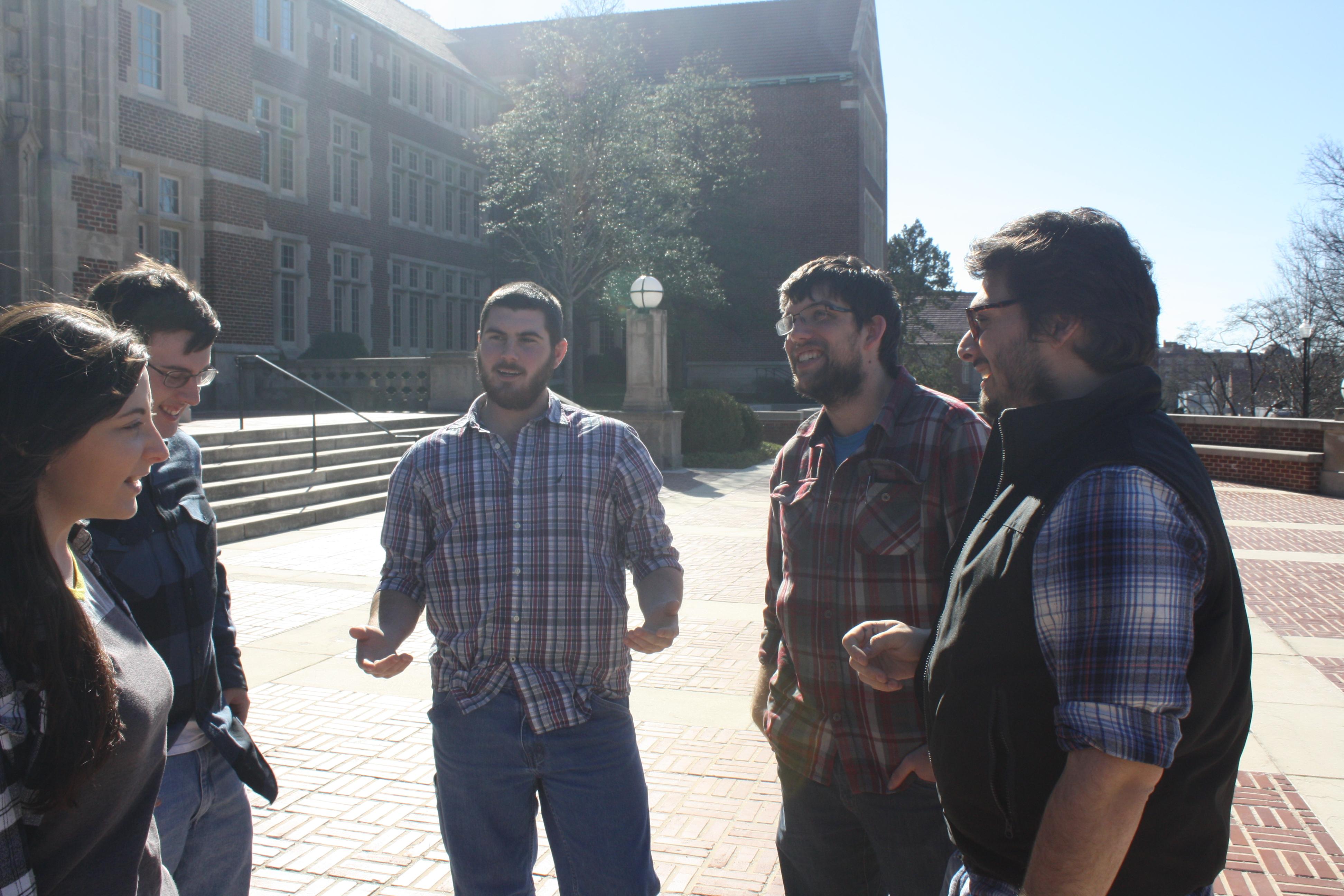 Darko Group, Spring 2016 (Left to Right): Morgan Higgins, William Sheffield, Caleb Garrett, Derek Cressy, Gavin Rustin